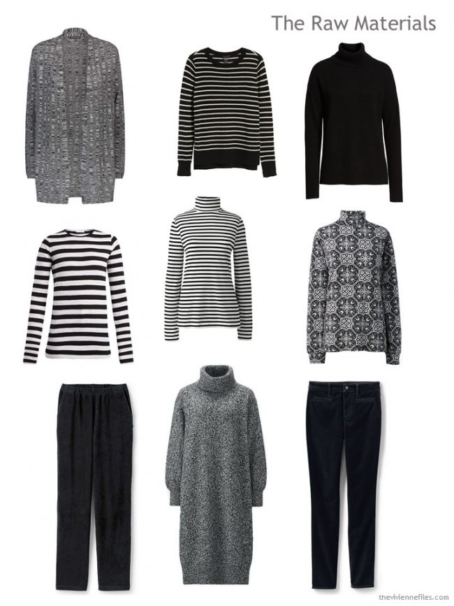9. 9 black & white garments for travel in cold weather