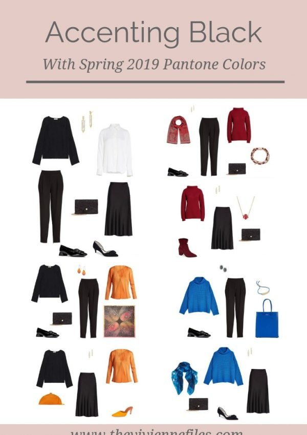 ACCENTING BLACK WITH 3 PANTONE SPRING 2019 COLORS