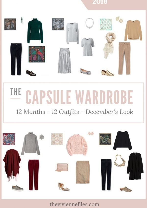 BUILD A CAPSULE WARDROBE IN 12 MONTHS, 12 OUTFITS – DECEMBER 2018