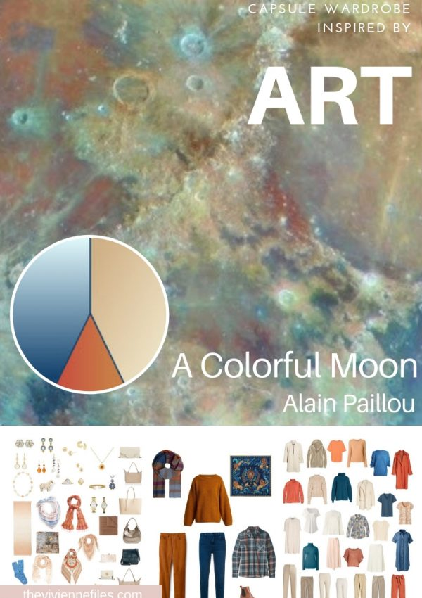 "A TRAVEL CAPSULE WARDROBE INSPIRED BY ""A COLORFUL MOON"" BY ALAIN PAILLOU"