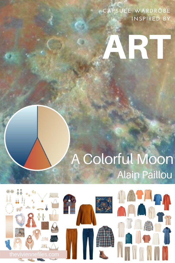 """A TRAVEL CAPSULE WARDROBE INSPIRED BY """"A COLORFUL MOON"""" BY ALAIN PAILLOU"""
