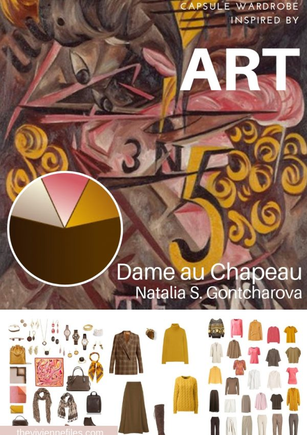 "CREATE A TRAVEL CAPSULE WARDROBE INSPIRED BY ""DAME AU CHAPEAU"" BY NATALIA GONTCHAROVA"