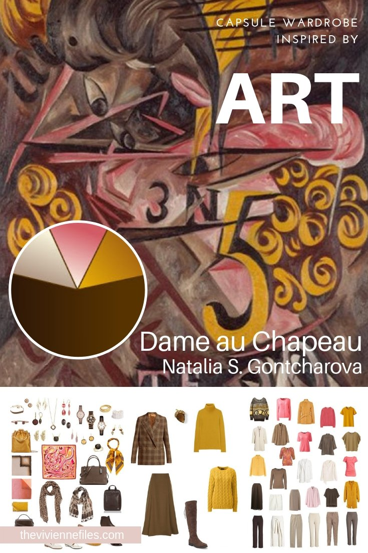 "CREATE A TRAVEL CAPSULE WARDROBE INSPIRED BY ""DAME AU CHAPEAU"" BY NATALIA GONTCHAROVA"