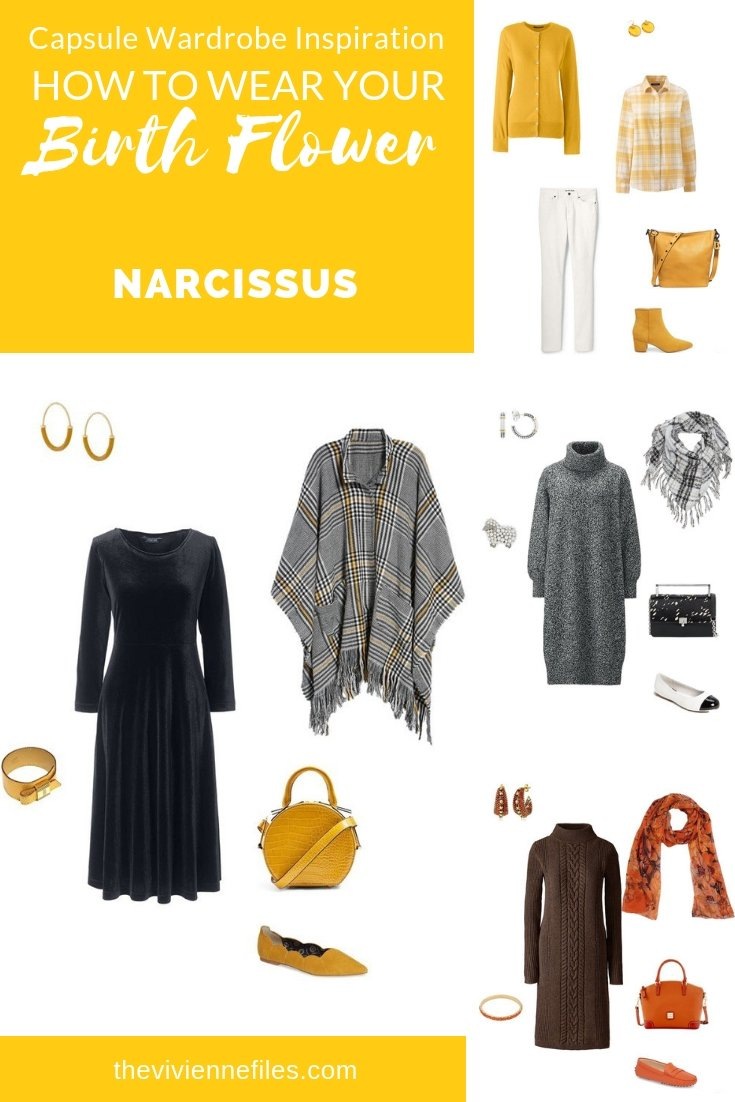 CREATE A CAPSULE WARDROBE INSPIRED BY NARCISSUS - BIRTH FLOWER FOR DECEMBER