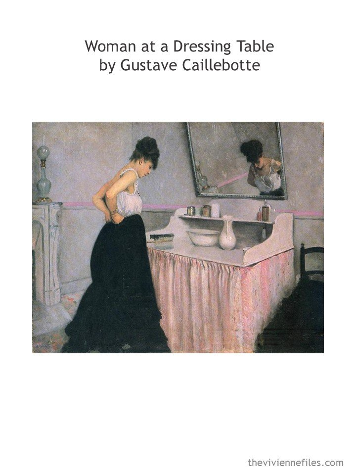 1. Woman at a dressing table by Caillebotte