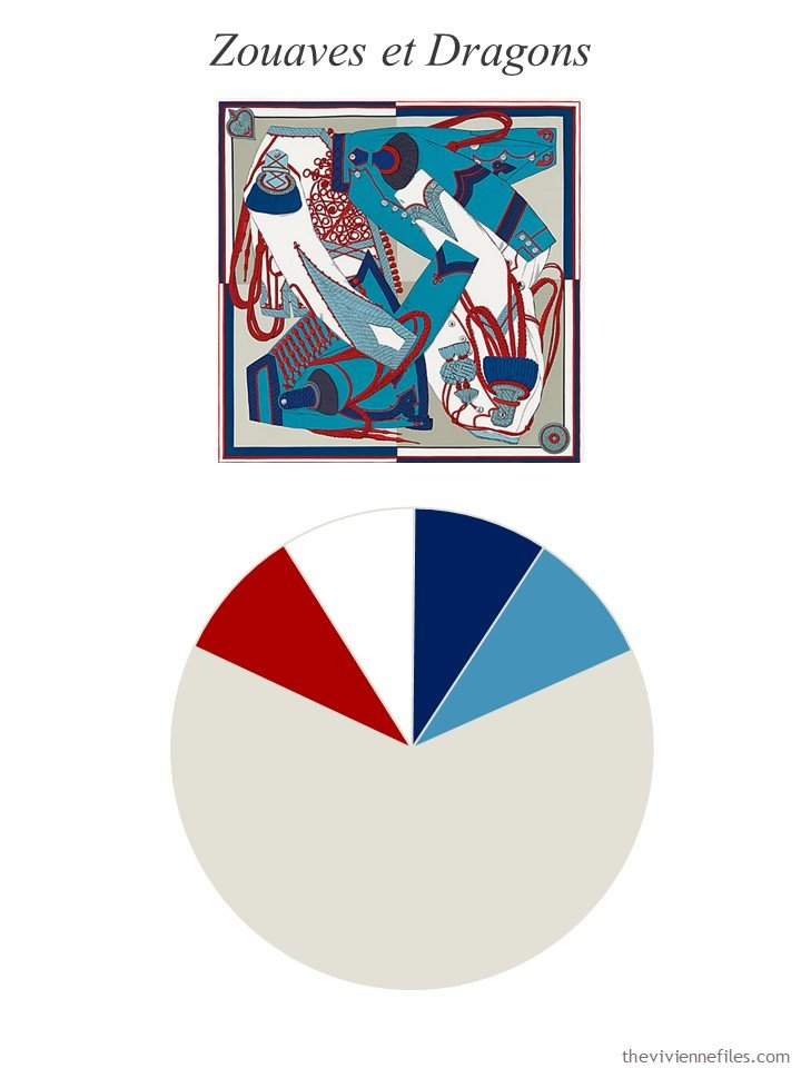 10. Hermes scarf with color palette