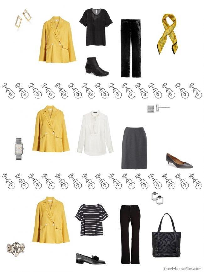 11. 3 ways to wear a yellow blazer in a capsule wardrobe