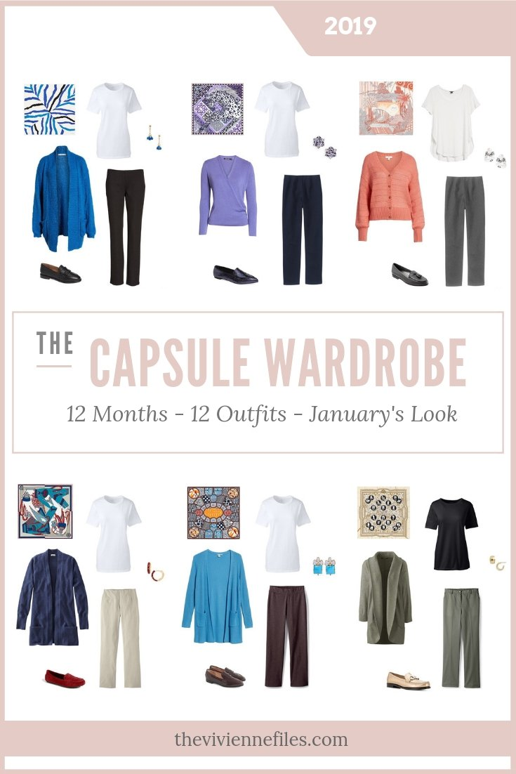 CAPSULE WARDROBE - 12 MONTHS, 12 OUTFITS – BASED ON 6 HERMES SCARVES