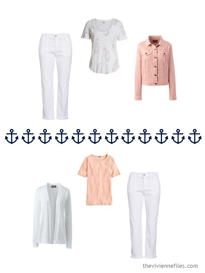 15. 2 ways to wear white pants from a travel capsule wardrobe