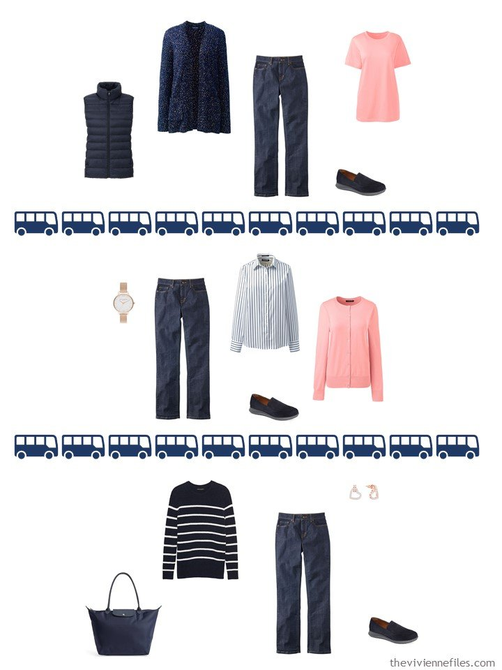 21. 3 ways to wear dark wash jeans from a travel capsule wardrobe