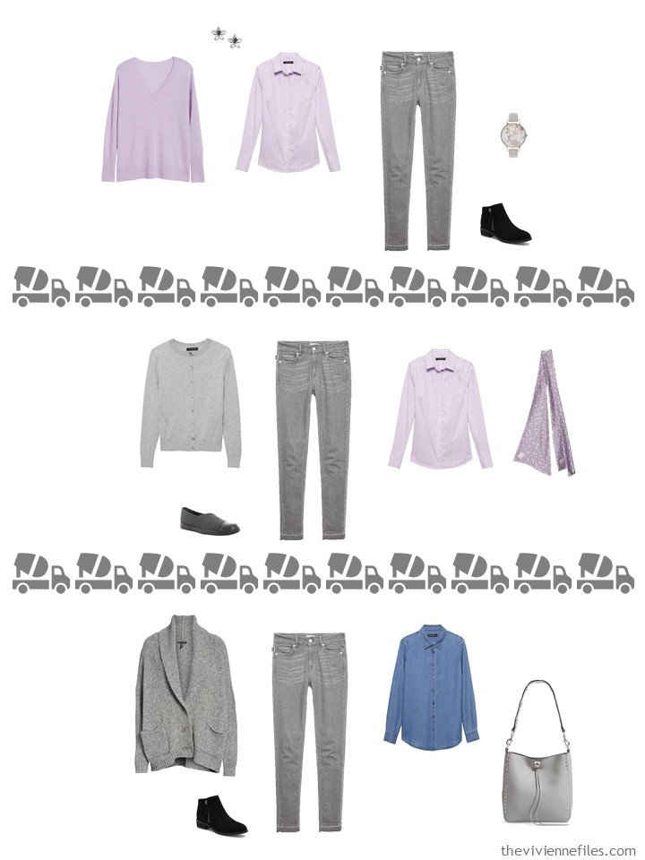 26. 3 ways to wear grey jeans from a travel capsule wardrobe