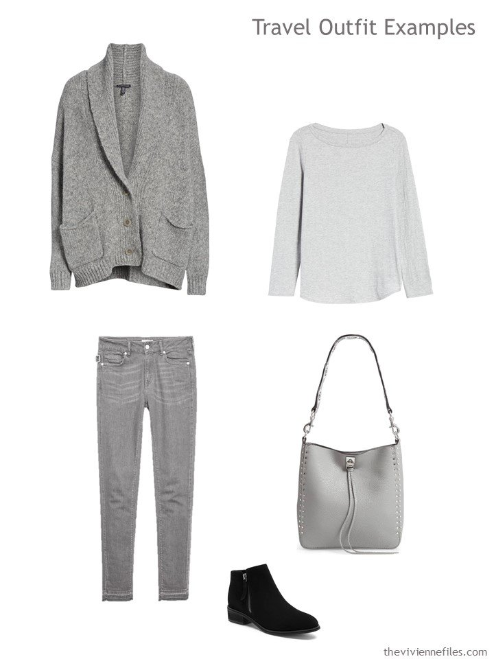 5. grey travel outfit