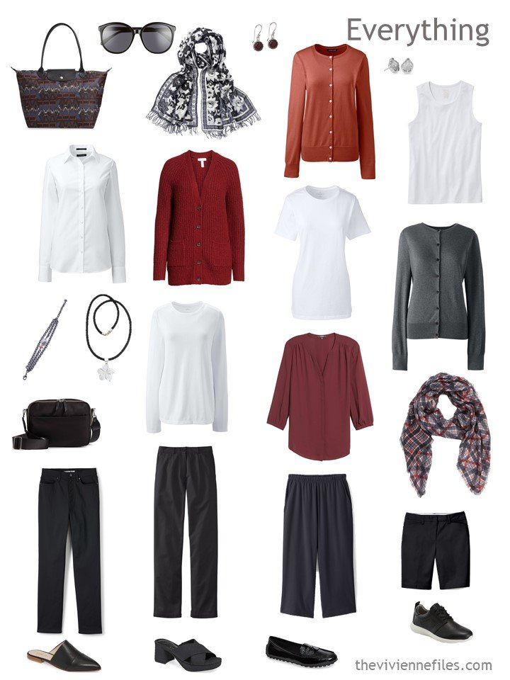 5. travel capsule wardrobe for changing temperatures