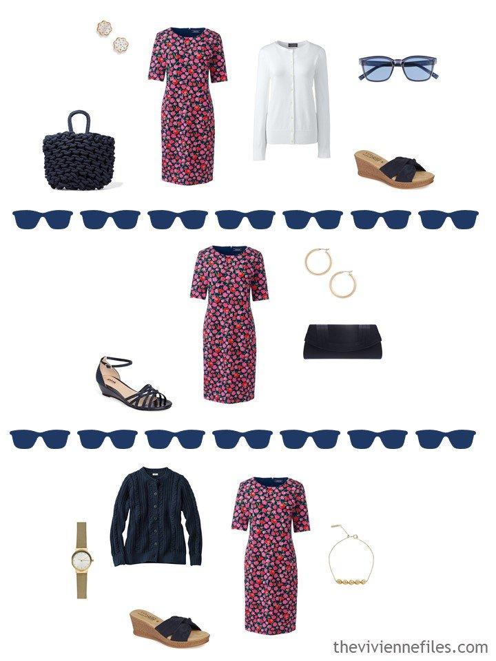 6. 3 ways to wear a print dress in warm weather