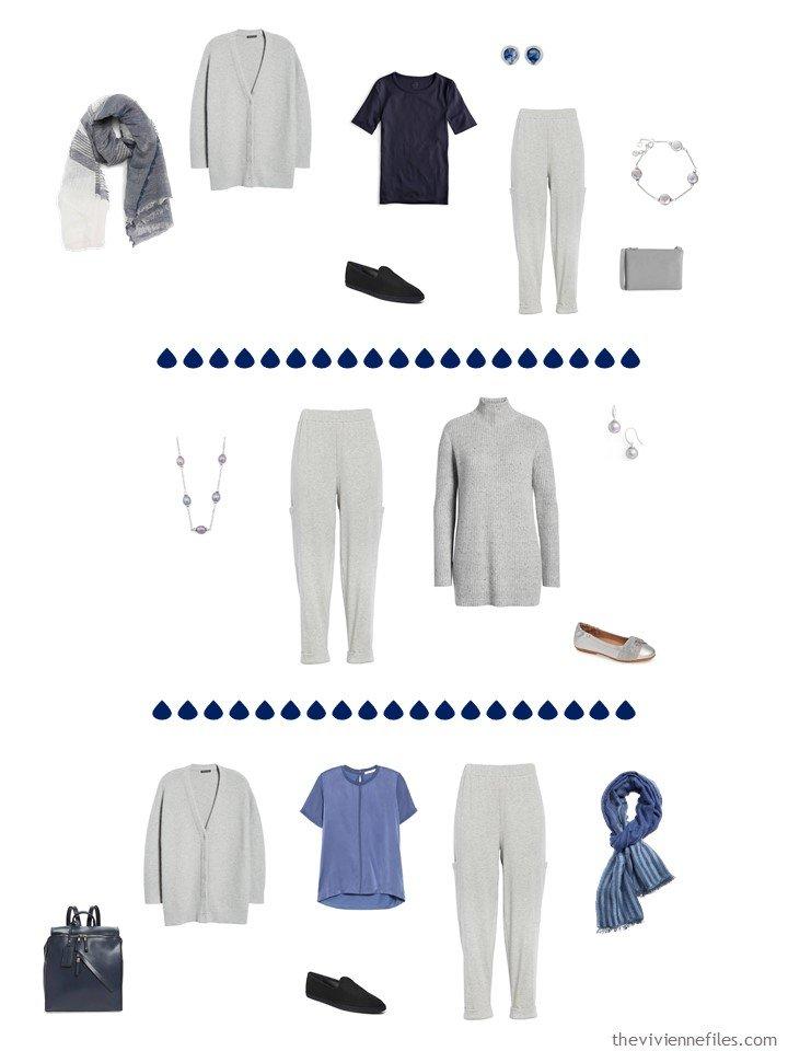 6. 3 ways to wear grey pants in a capsule wardrobe