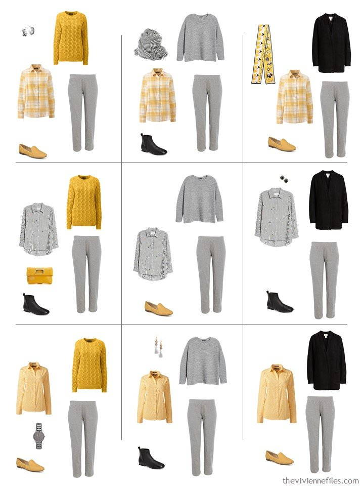 6. 9 ways to wear grey pants from a travel capsule wardrobe