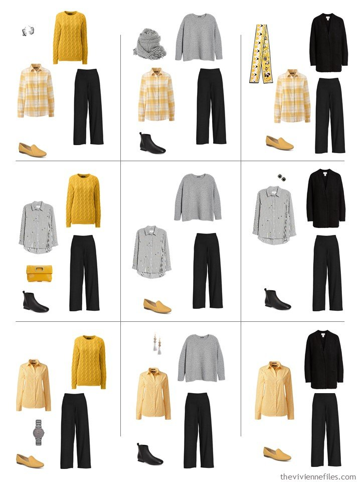 7. 9 ways to wear black pants from a travel capsule wardrobe