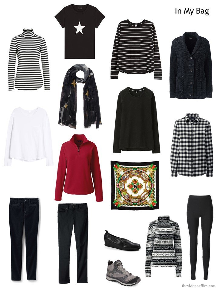 7. travel capsule wardrobe for cold weather