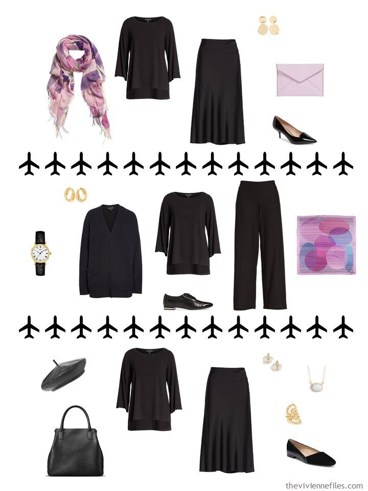 8. 3 ways to wear a black top from a travel capsule wardrobe