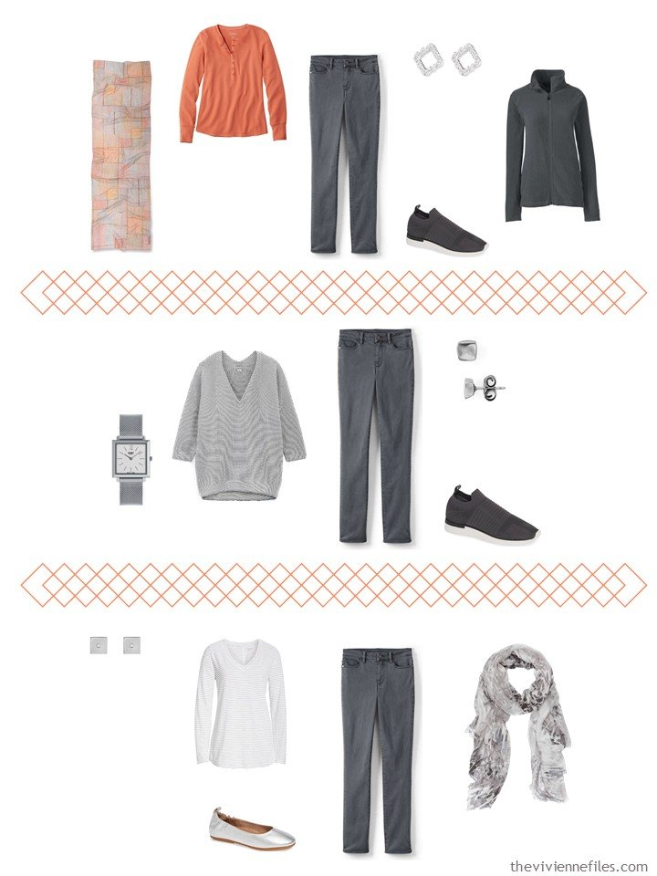 8. 3 ways to wear charcoal jeans from a travel capsule wardrobe