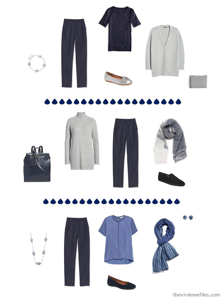 8. 3 ways to wear navy pants in a capsule wardrobe
