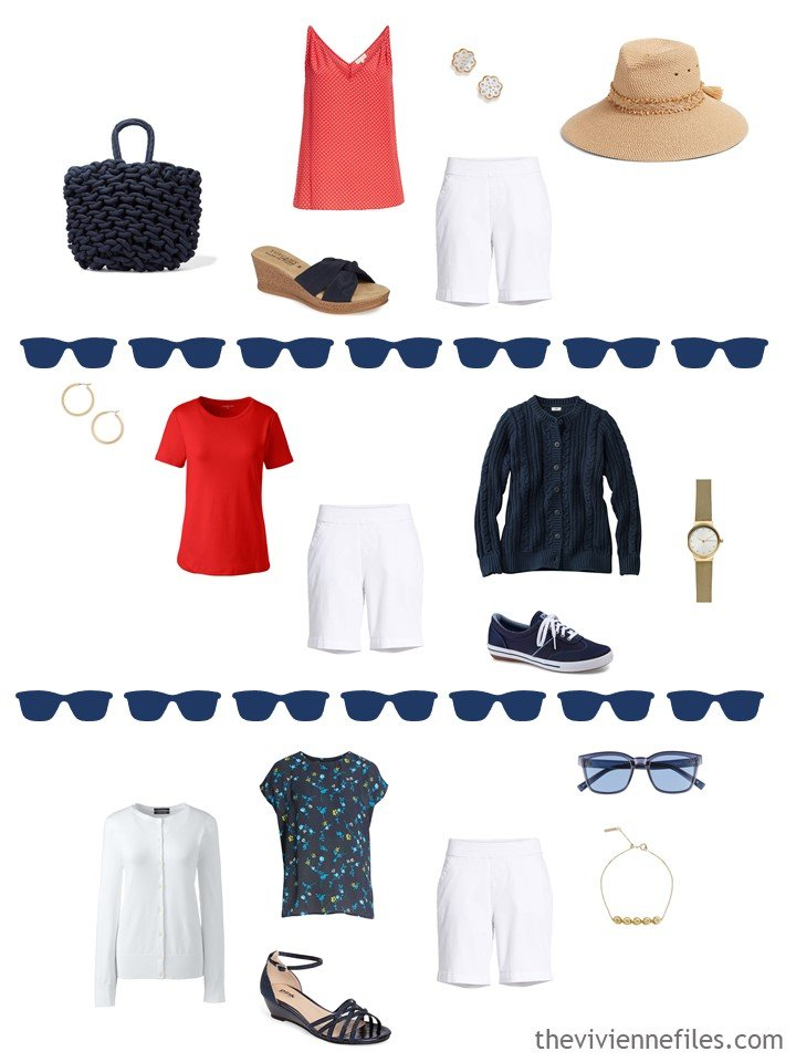 8. 3 ways to wear white shorts in warm weather from a travel capsule wardrobe
