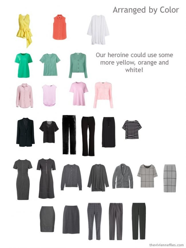9. sorting a capsule wardrobe by color