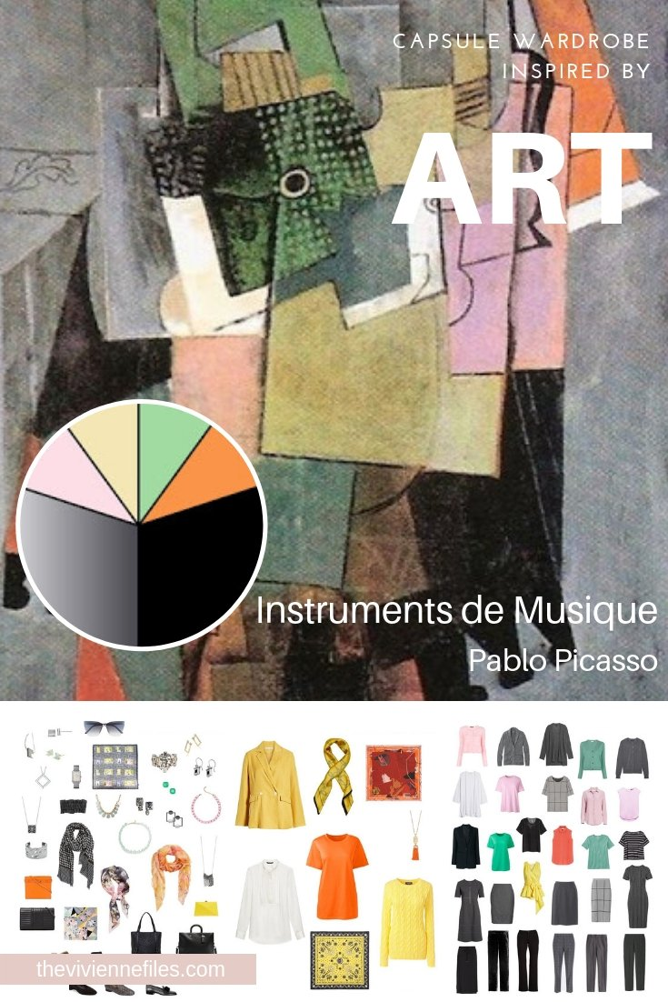 "CREATE A CAPSULE WARDROBE INSPIRED BY ""INSTRUMENTS DE MUSIQUE: BY PABLO PICASSO"