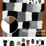 A CAPSULE WARDROBE FOR WINTER TRAVEL INSPIRED BY RHYTHMISCHES BY PAUL KLEE
