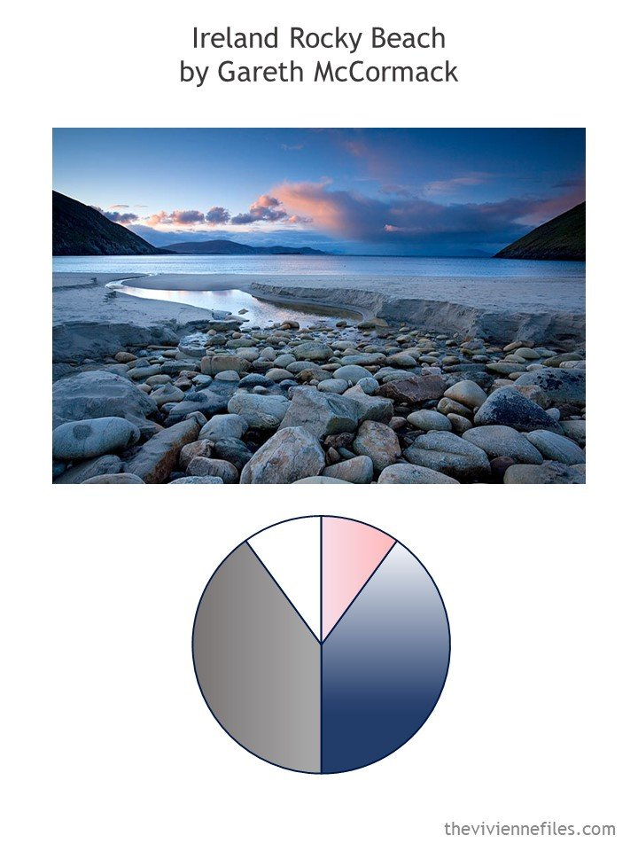 1. Ireland Rocky Beach by Gareth McCormack with color palette