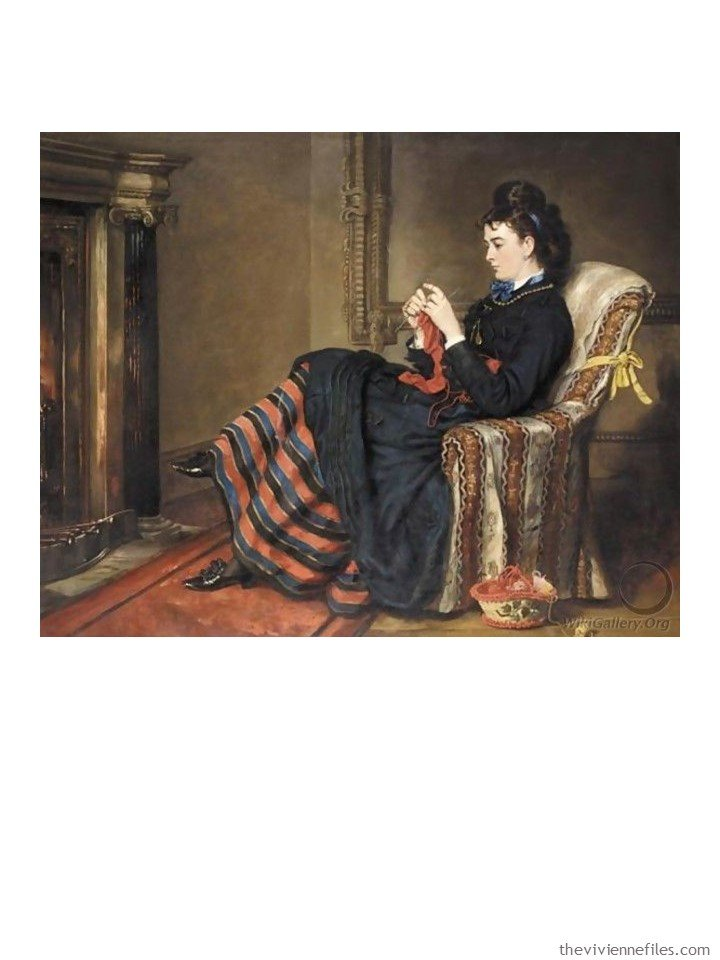 1. Knitting a Stocking by Sir Francis Grant