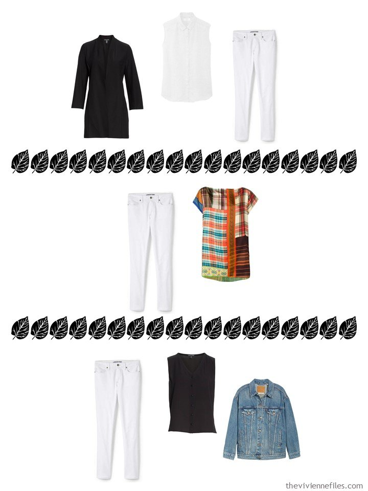 12. 3 ways to wear white jeans from a 4 by 4 Wardrobe