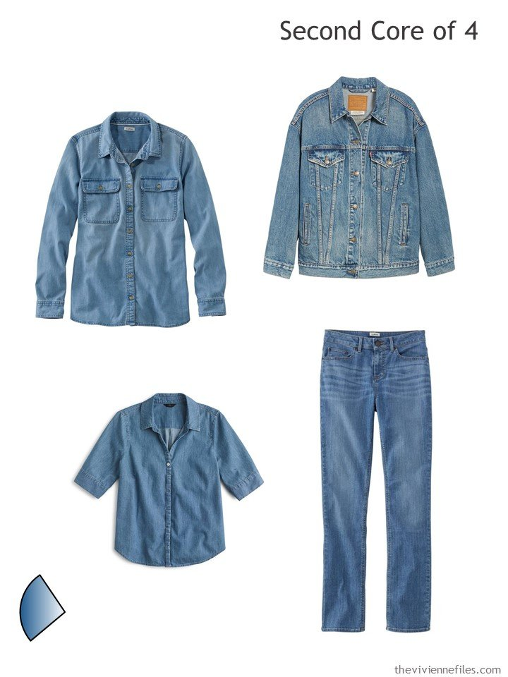 3. denim core of 4 garments