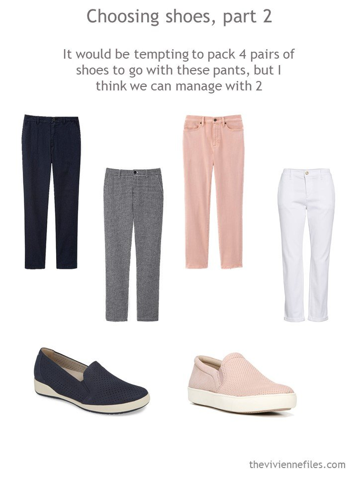 4. Choosing casual shoes for a travel capsule wardrobe