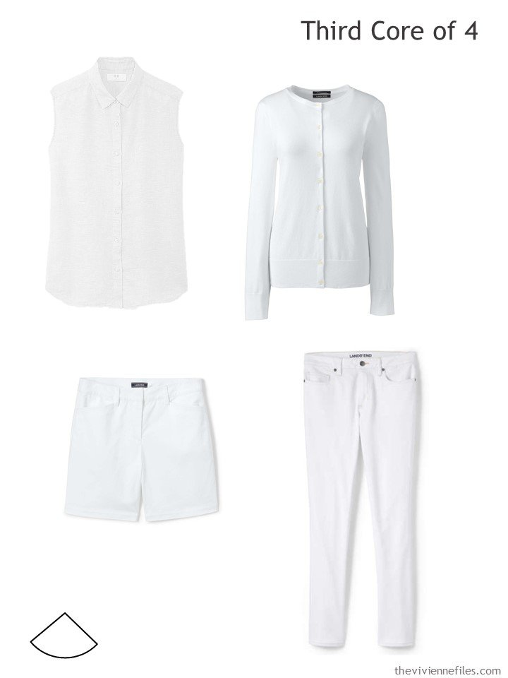 4. white core of 4 garments for warm weather