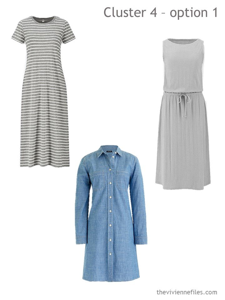 6. adding 3 dresses to a travel capsule wardrobe