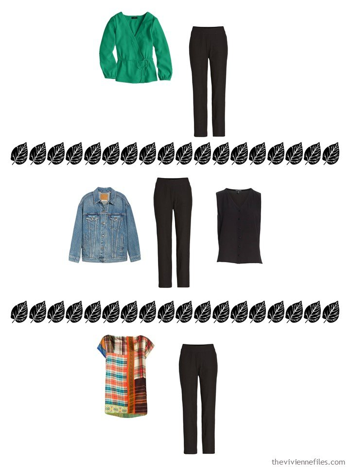 7. 3 ways to wear black pants from a 4 by 4 Wardrobe