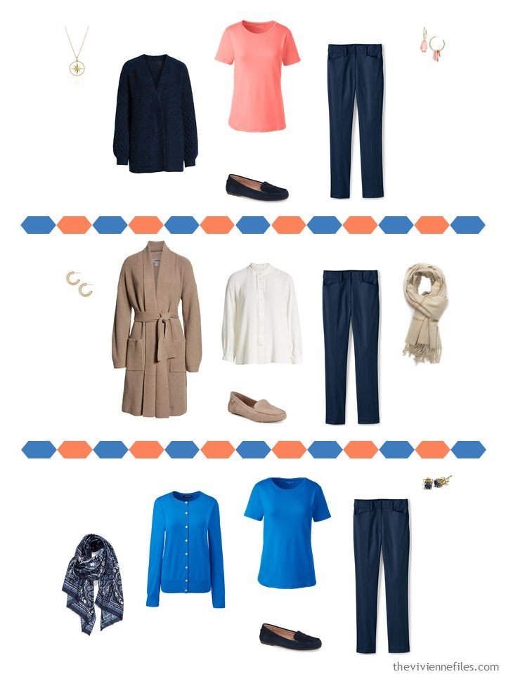 8. 3 ways to wear navy pants from a travel capsule wardrobe