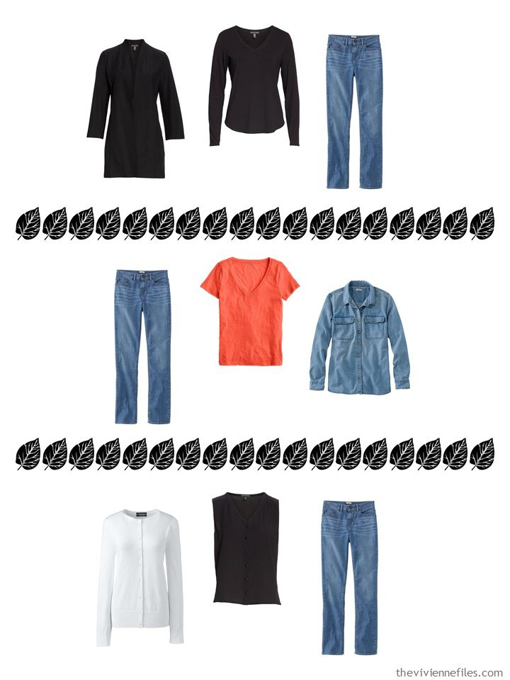 9. 3 ways to wear jeans from a 4 by 4 Wardrobe