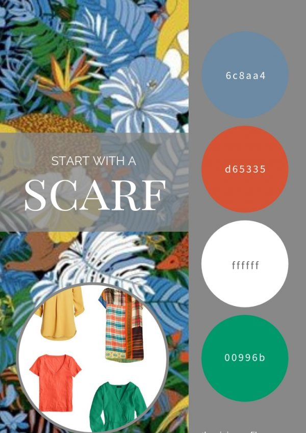 CAN YOU HAVE TOO MANY NEUTRALS? START WITH A SCARF – THE TROPICAL SCARF BY PIG, CHICKEN & COW