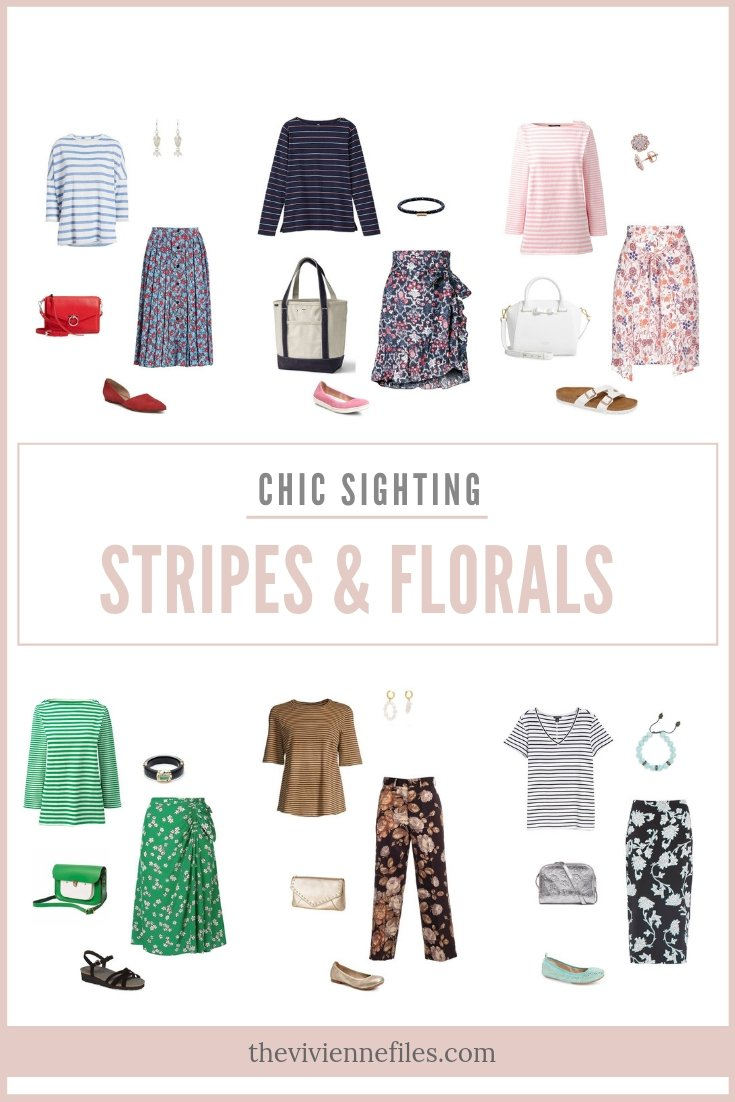 CHIC SIGHTING: STRIPED TEE SHIRT & FLORAL SKIRT