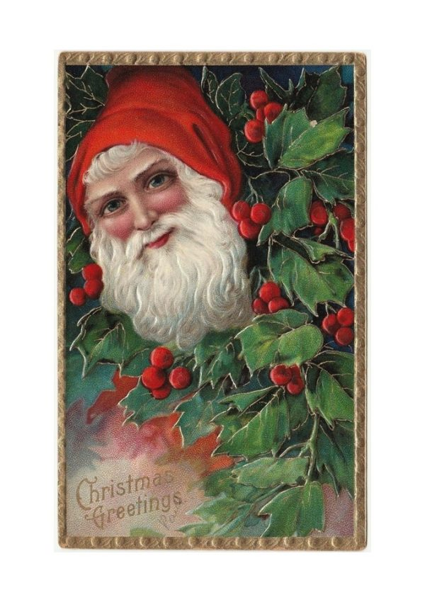 antique Santa Christmas postcard