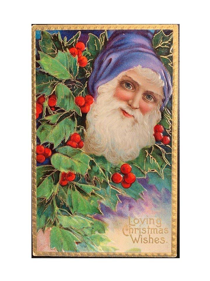 antique Santa Christmas postcard