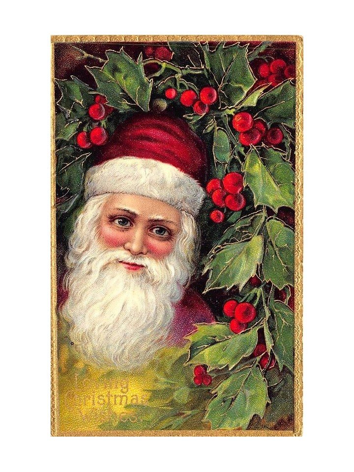 Santa Claus Christmas antique postcard