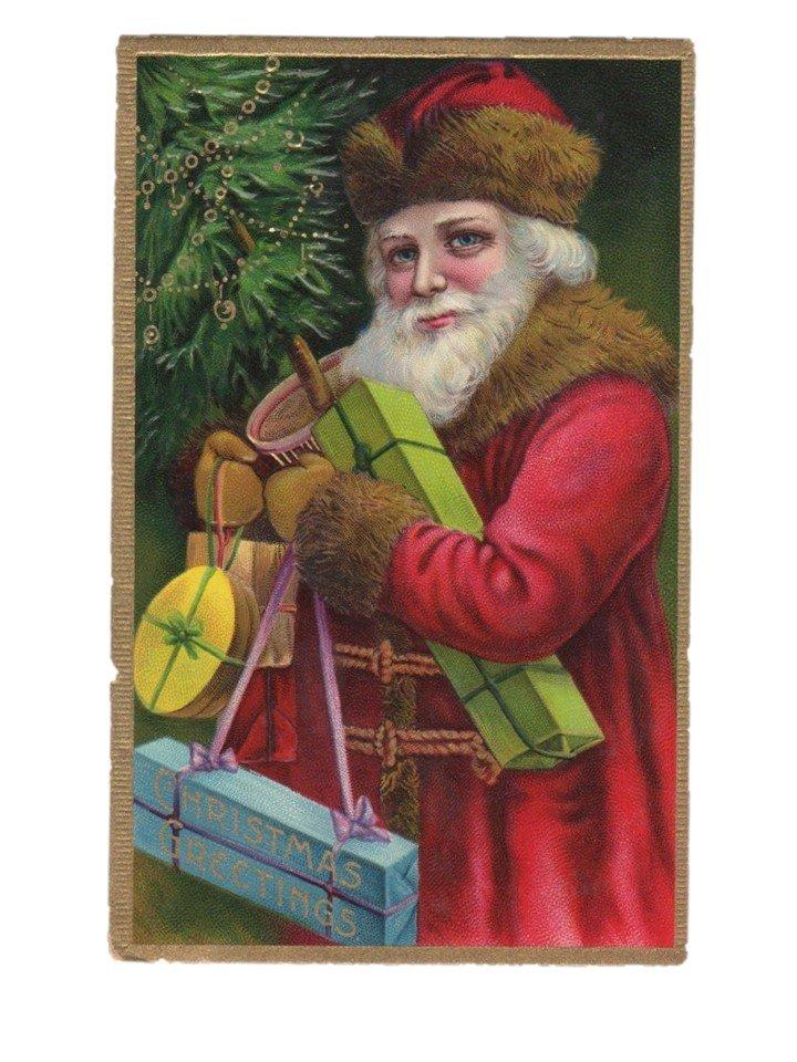 Christmas Santa antique postcard