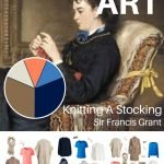 A CAPSULE WARDROBE FOR WINTER TRAVEL: KNITTING A STOCKING BY SIR FRANCIS GRANT