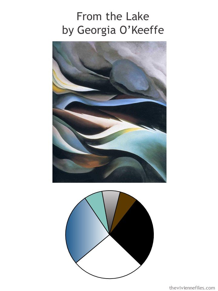 1. From the Lake by O'Keeffe with color palette