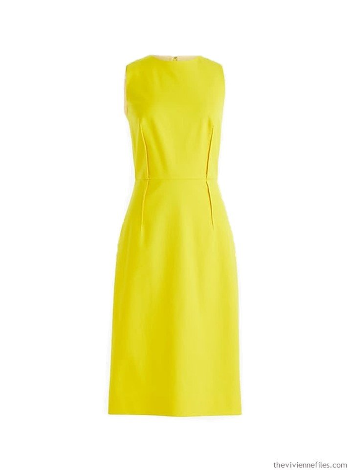 1. a yellow sleeveless dress