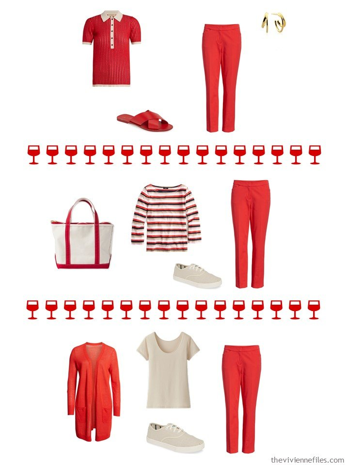 10. 3 ways to wear red jeans from a capsule wardrobe