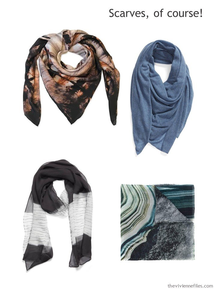 10. adding scarves to a capsule wardrobe